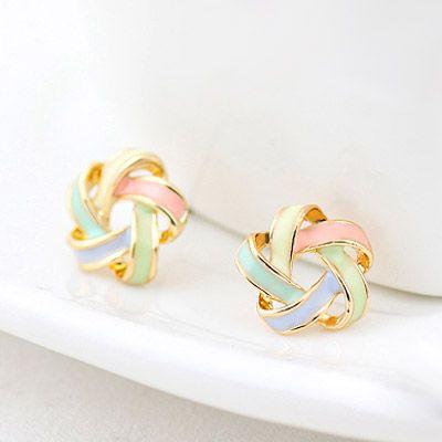 Korean fashion wild yarn ball sweet earrings NHSC201773