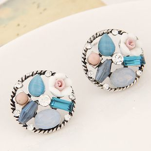 Korean fashion sweet OL retro gem earrings wholesales  NHSC201762's discount tags