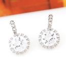 Korean fashion sweet OL graceful bright zircon earrings NHSC201759