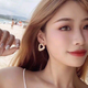 925 Silver Needle Korean Fashion Sweet OL Simple Pearl Conch Earrings NHSC201757