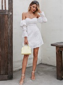 Sexy Solid Color Shoulder Dress Fashion Women39s Clothes Wholesale NHDE201683