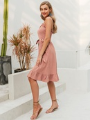 Sleeveless Simple Dress Mid Length Sweet Dress Fashion Women39s Clothes Wholesale NHDE201687