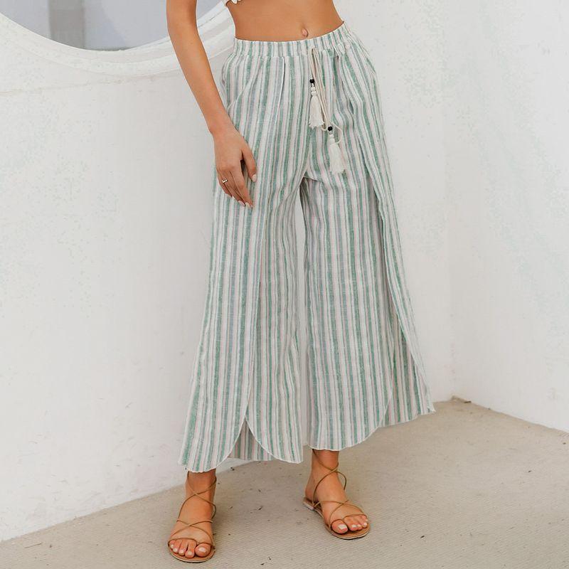 Casual Simple Wide Leg Pants Fashion Women Clothes Wholesale NHDE201694