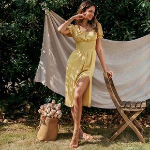 Sexy pierna dividida vestido moda mujer al por mayor NHDE201707's discount tags