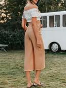 Casual Simple High Waist Wide Leg Pants Fashion Women Wholesale NHDE201708