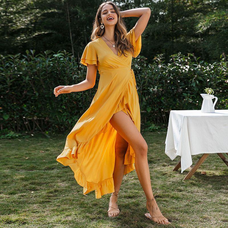 Sexy legs split ends vacation boho dress wholesale fashion women's clothes NHDE201716