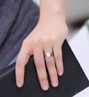 Fashion jewelry metal vintage woven pearl split ring NHSC202473