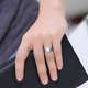 Fashion jewelry metal vintage woven pearl split ring NHSC202473
