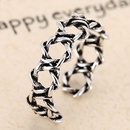 Fashion jewelry metal vintage woven open ring NHSC202472