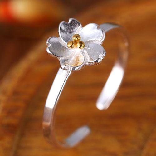 Fashion jewelry Korean Fashion Sweet Flower Open Ring NHSC202468