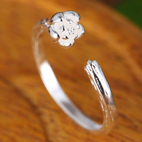 Fashion jewelry Korean fashion sweet and rich flower open ring NHSC202466
