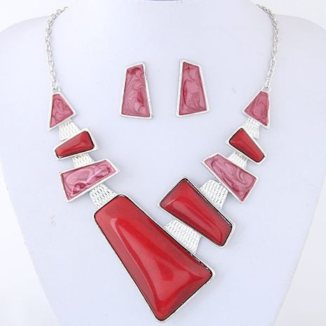 Fashion jewelry metal simple geometric shape necklace earrings NHSC202464's discount tags