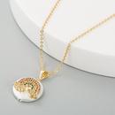 Fashion accessories copper zircon pearl rainbow pendant necklace for women fashion clavicle chain NHLN201846