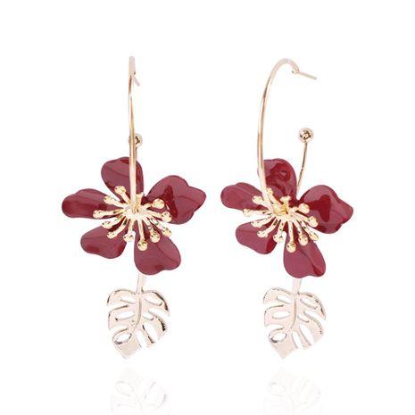 Spring alloy petal earrings fashion geometric leaves colored earrings women NHMD201852's discount tags