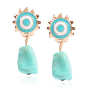 New Totem Earrings Fashion Creative Irregular Geometric Resin Color Pendant Earrings NHMD201854's discount tags