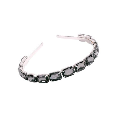 New fashion transparent glass diamond alloy headband wholesale NHMD201855's discount tags