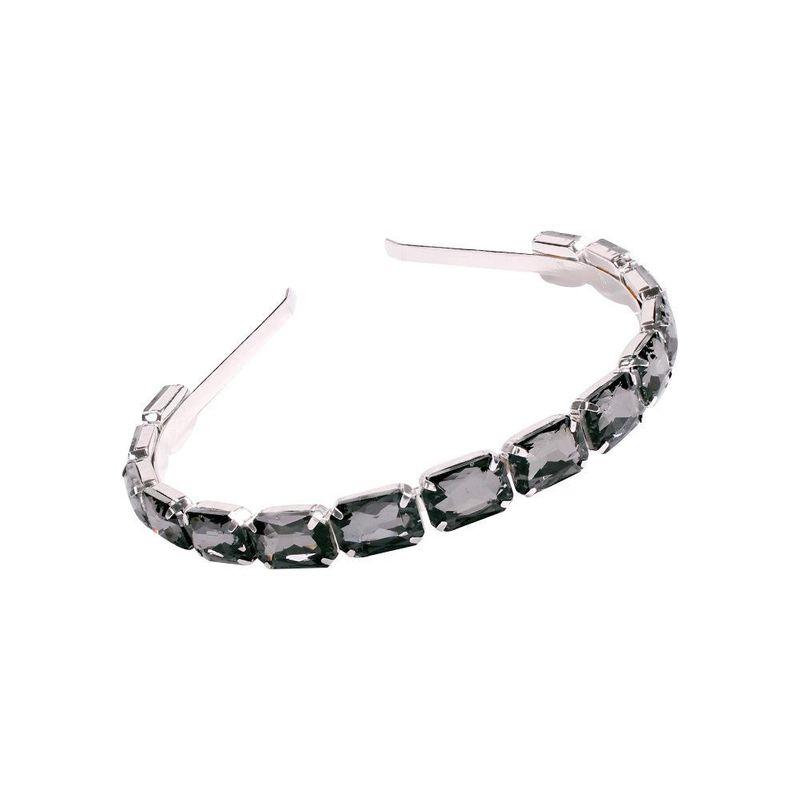 New fashion transparent glass diamond alloy headband wholesale NHMD201855