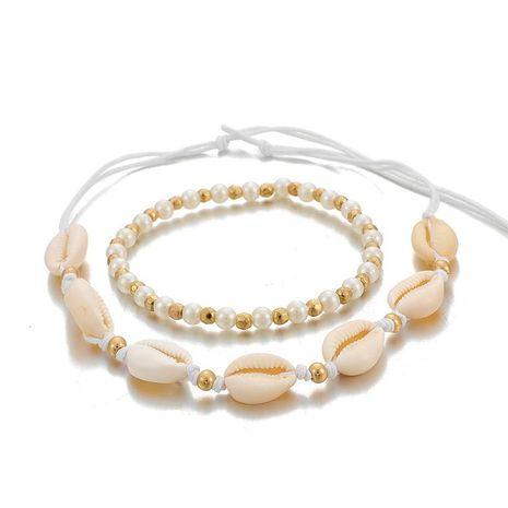 Nouveau Bijoux De Mode Bohême Plage Perles Shell Collier Collier Ensemble NHGY201863's discount tags