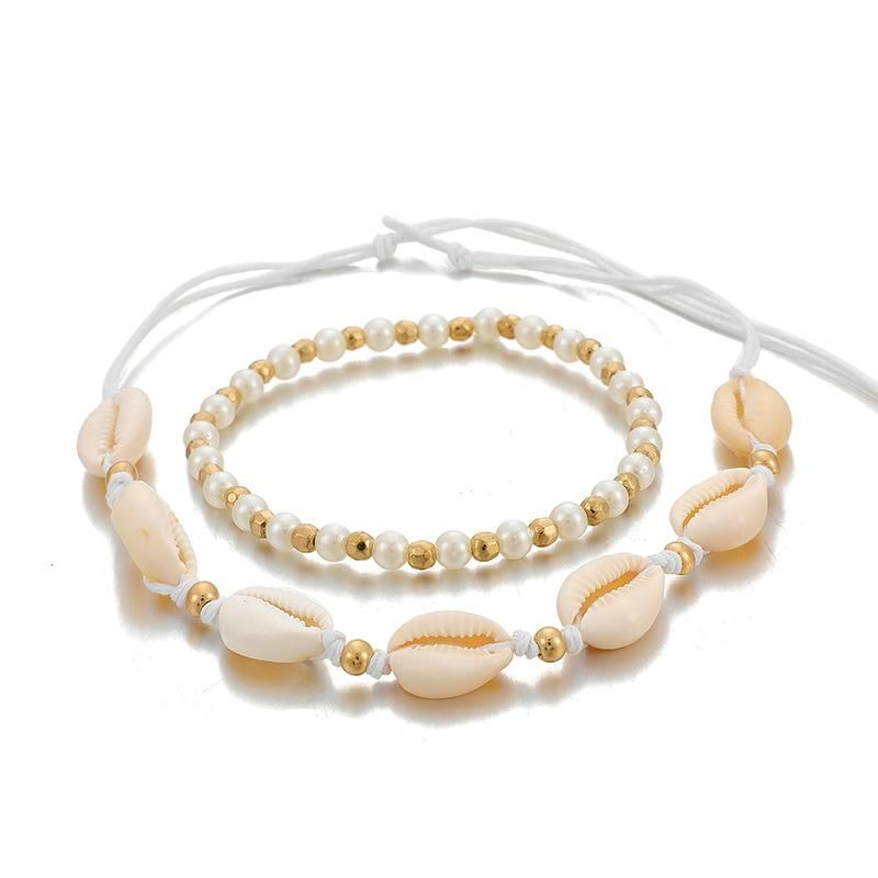 New Fashion Jewelry Bohemia Beach Beads Shell Necklace Necklace Set NHGY201863