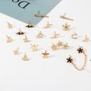 Fashion Multielement Ear Stud Set Alloy Love Lightning Flower Ear Earrings NHNZ201897