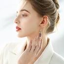 925 silver hook fun creative wild earrings female asymmetric Korean trend ear hooks NHPP201907