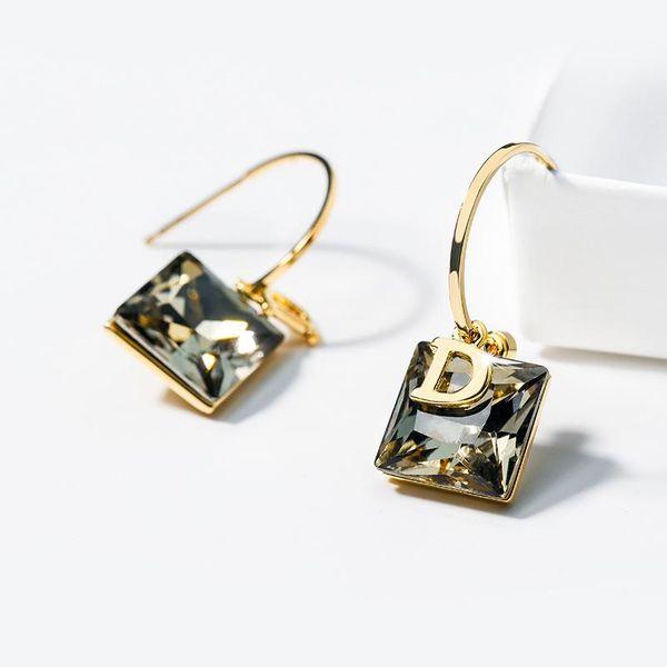 925 Silver Pin Letter Wild Earrings New Tide Earrings Korean Fashion Earrings NHPP201912