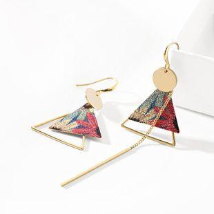 Pendientes de mujer de moda pendientes geométricos asimétricos pendientes de mujer nueva moda de moda largos NHPP201914's discount tags
