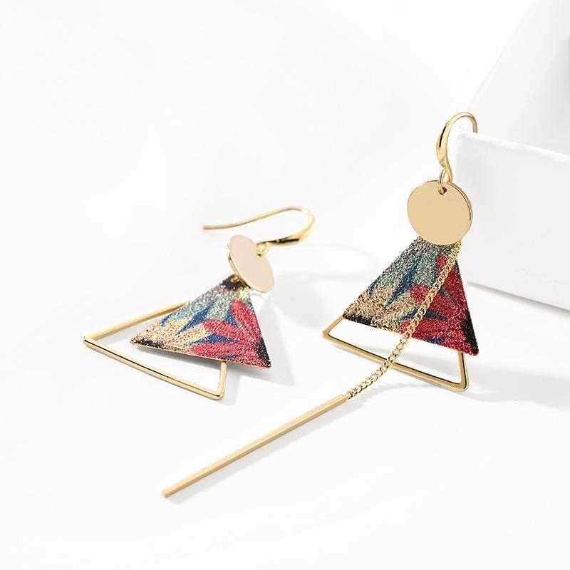 Fashion women's earring geometric asymmetric earrings female new trendy fashion long earrings NHPP201914