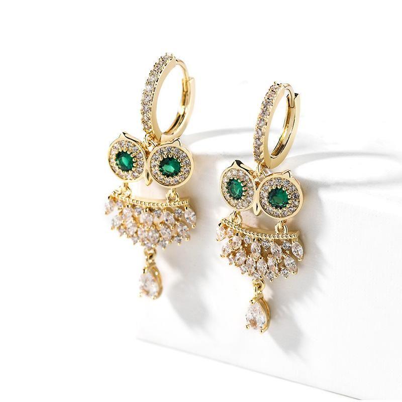 Retro owl earrings female new trendy earrings simple elegant earrings NHPP201917