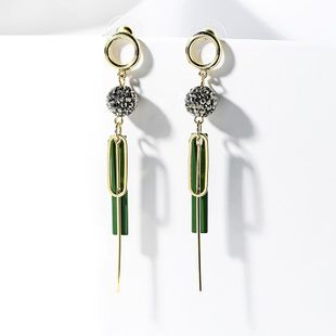 Earrings long female 925 silver needle Korean tide exaggerated tassel earrings Korean earrings pendant NHPP201920's discount tags