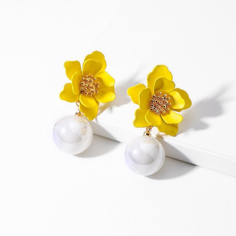 S925 Silver Stud Earrings Flower Sweet Earrings Female Korean Simple Fresh Wild Petal Earrings NHPP201928