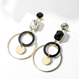 925 pendientes de aro geométricos de aguja de plata clip de oreja pendientes de diseño de moda femenina coreana simple NHPP201930's discount tags