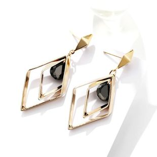 s925 silver pin jewelry diamond sexy earrings for women Korean fashion long ear clip NHPP201931's discount tags