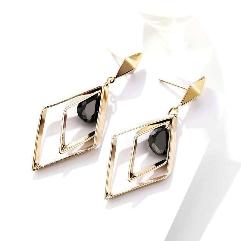 s925 silver pin jewelry diamond sexy earrings for women Korean fashion long ear clip NHPP201931