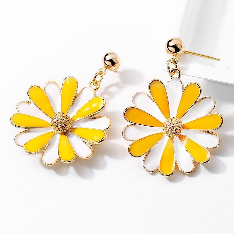 Korean simple earrings wild fresh fashion earrings small daisies s925 silver needle earrings women NHPP201933
