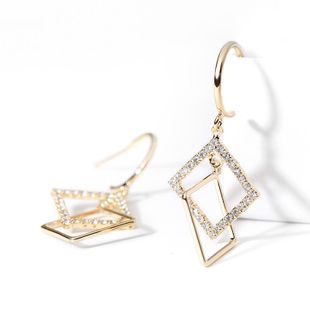 925 silver pin geometric personality earrings new fashion simple creative earrings women NHPP201934's discount tags