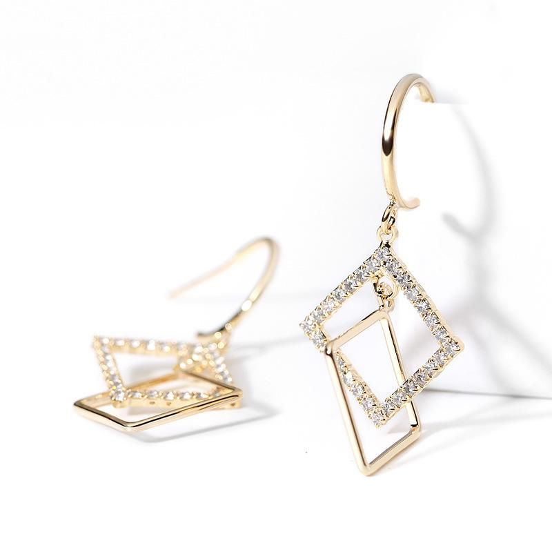 925 silver pin geometric personality earrings new fashion simple creative earrings women NHPP201934