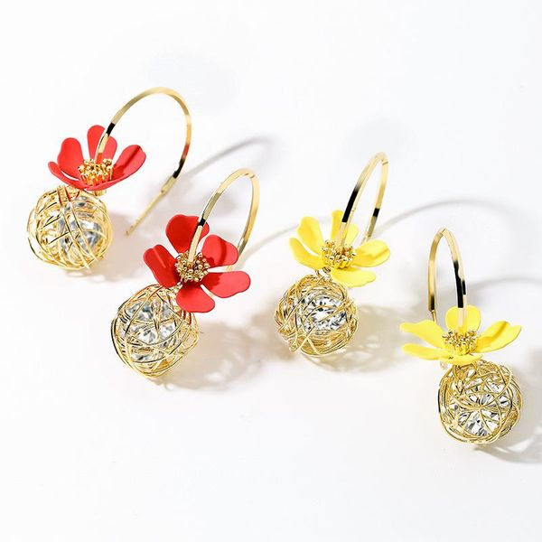 Fashion earring925 silver pin fresh and sweet flower earrings NHPP201936