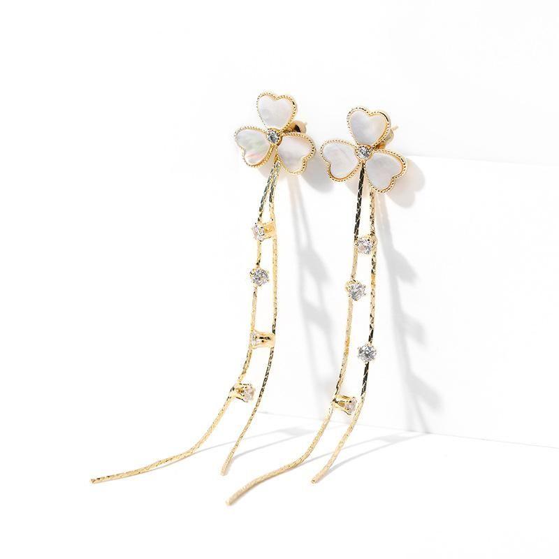 Fashion women's earring925 silver pin sexy creative earrings new long fringed ear clip NHPP201958