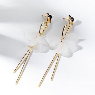 Fashionable wild long creative 925 silver pin earrings female Korean tide pendant earrings ear clips NHPP201962's discount tags