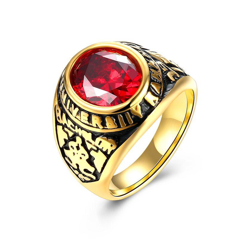 New Fashion Vintage Ruby Ring NHKL201735
