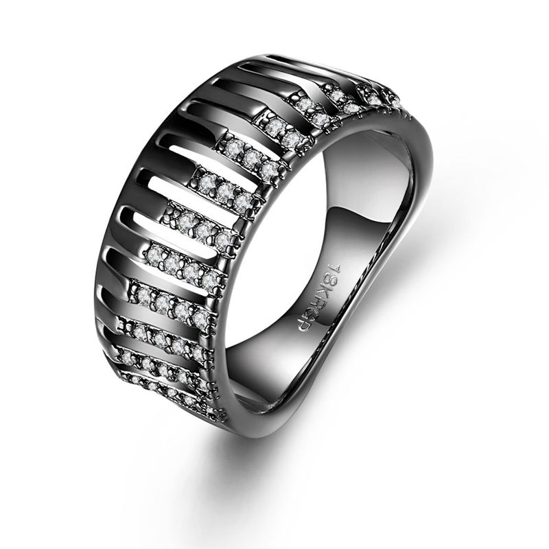 New Fashion Ring Rod Spiral Diamond Ring NHKL201746