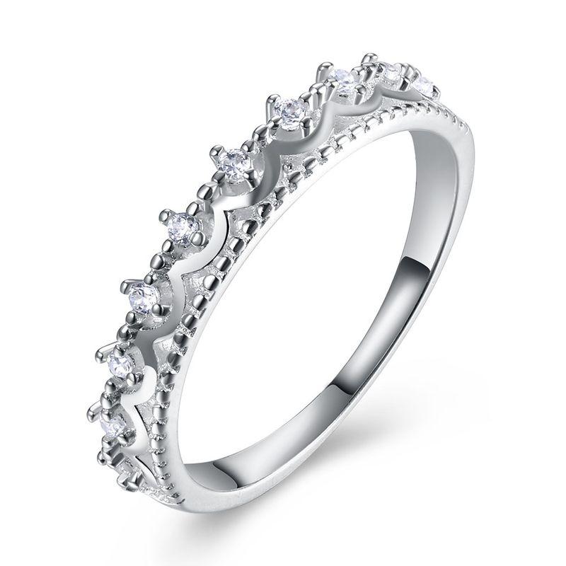 New Fashion Diamond Silver Ring NHKL201755