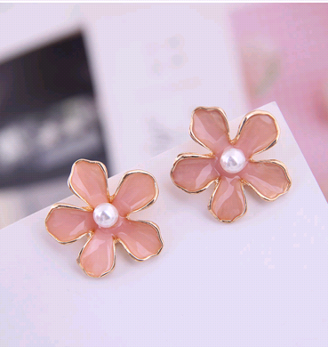 Fashion jewelry metal sweet simple rural flower female earrings NHSC202442