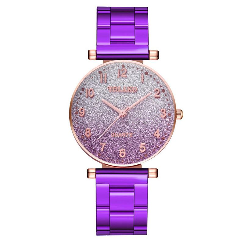 Fashion watch female Korean trend gradient color alloy steel band quartz watch simple glitter face ladies watch NHSY201987