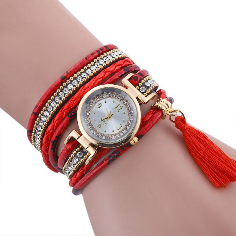 New Serpentine Woven Strap Quartz Watch Women's Leather Fashion Bracelet Watch Wholesale NHSY201993