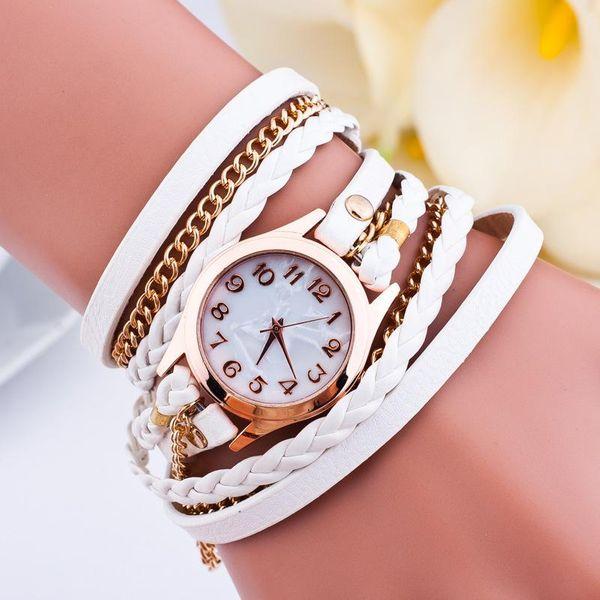 New three-circle wrap watch creative braided rope hanging bracelet bracelet watch ladies fashion watch wholesale NHSY201998