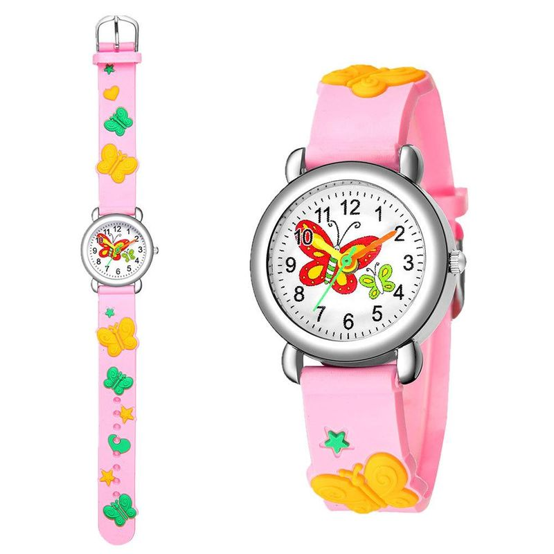 New children's watch cute butterfly pattern quartz watch boy and girl watch wholesale NHSY201999