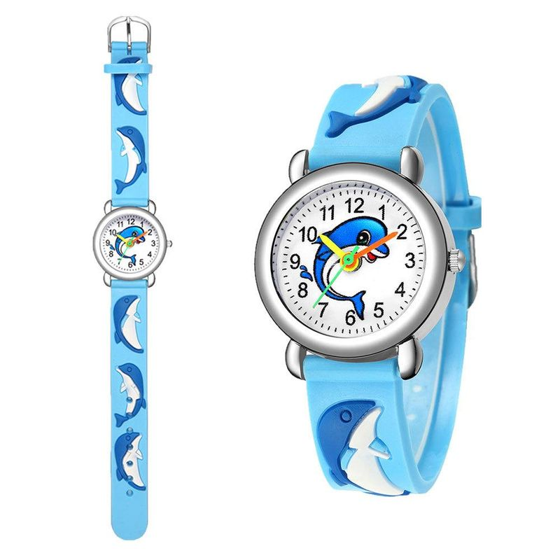 Cute Dolphin Pattern Quartz Watch Boys Girl Gift Watch Wholesale NHSY202011