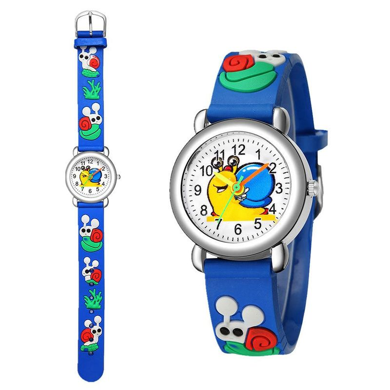 3D embossed concave plastic band student watch cute snail pattern children watch NHSY202014